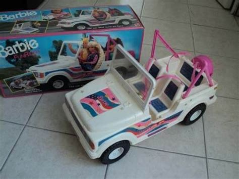 blue barbie jeep barbie jeep from the 90s those seat belts were a pain in