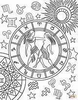 Zodiac Coloring Gemini Pages Sign Signs Printable Para Adult Mandala Colorear Signos Star Colors Colouring Aries Sheets Supercoloring Adults Mandalas sketch template