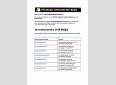 schoolvakanties belgie exacte datums op kalender