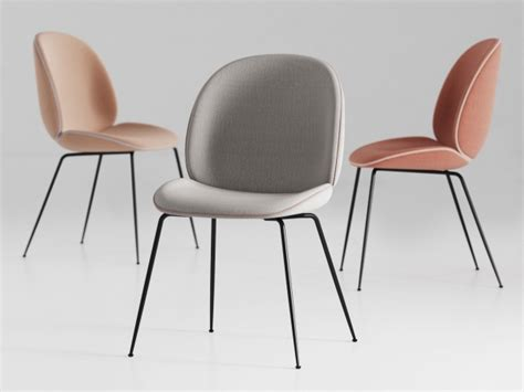 Modern Dining Tables And Chairs by Beetle Chair 3d Model Gubi