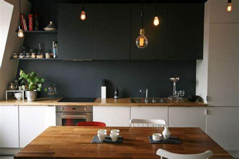 cuisine blanche plan de travail bois inspirations de deco