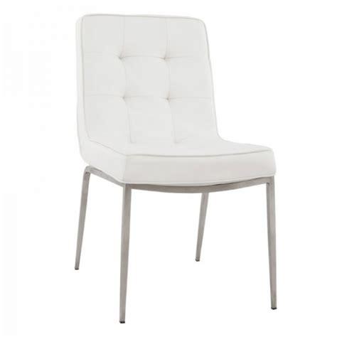 chaise blanche simili cuir chaise blanche en cuir capitonné tooshopping com