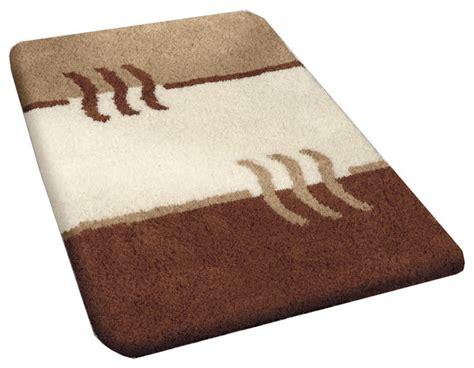 Bamboo Beige Modern Non Slip Washable Bathroom Rug, Fiesta