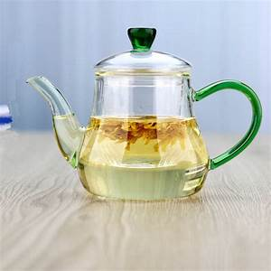 Pindefang, Elegant, 400ml, Whole, Borosilicate, Glass, Teapot, With, Strainer, Glass, Infuser, Heatable