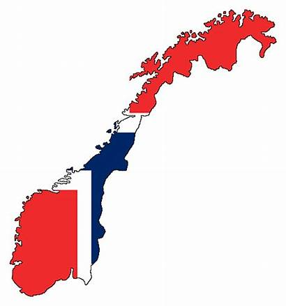 Norway Flag Map Graphics