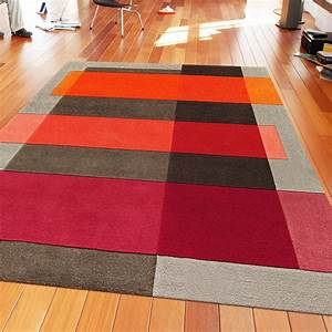 tapis de salon intersection orange et taupe par arte espina With tapis salon orange