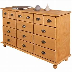 Commode 12 Tiroirs : commode en bois 12 tiroirs romeo ~ Teatrodelosmanantiales.com Idées de Décoration