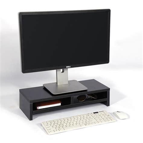 computer riser for desk computer monitor stand desk table 2 tier shelves laptop