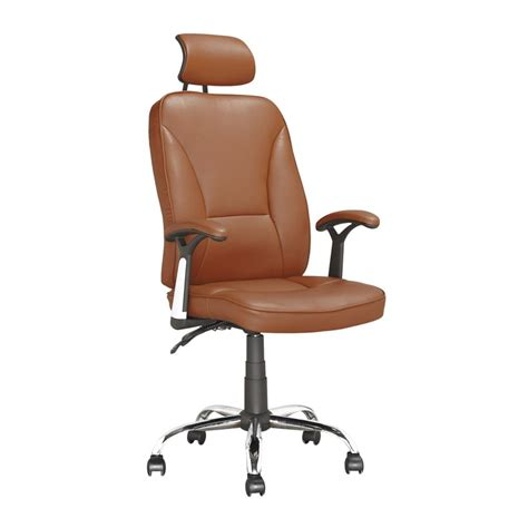 corliving lof 699 o executive office chair in light brown