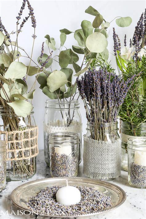 Mason Jars With Lavender Maison De Pax