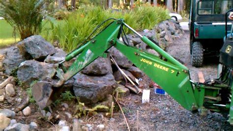 max pullcord john deere  backhoe mini excavator youtube
