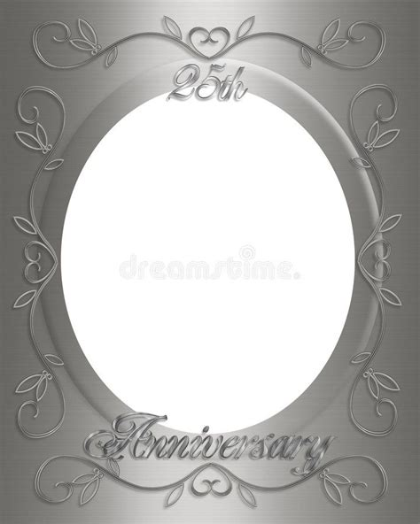25th Wedding anniversary frame stock illustration in 2020