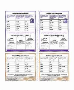 Cooking Conversion Chart 8 Free Word Pdf Documents