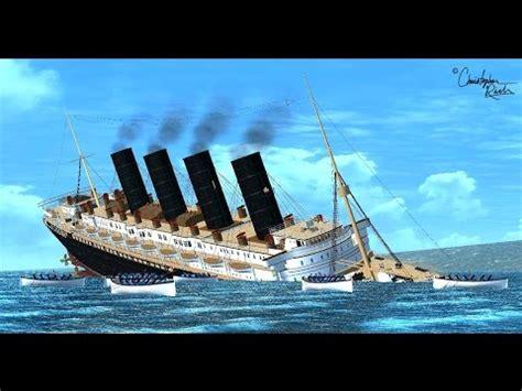 lusitania sinks in real time rms lusitania 3d sinking animation