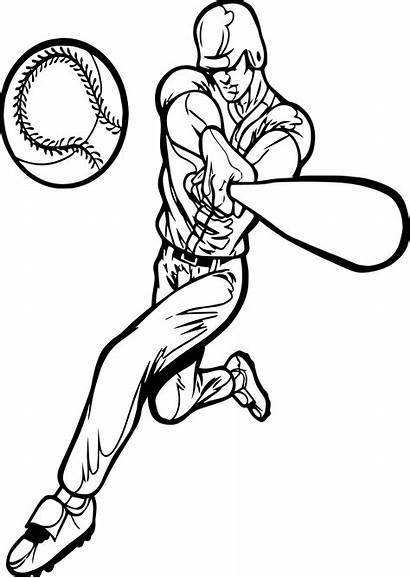 Baseball Playing Coloring Perfect Pages Sports Birthday