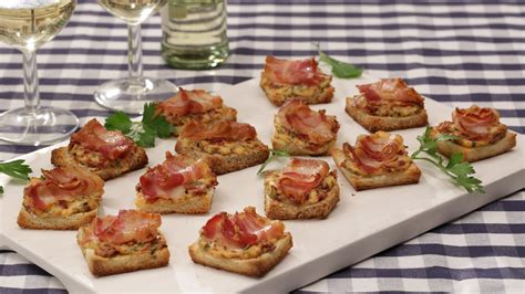 canapes finger food fingerfood bacon tomaten frischkäse häppchen