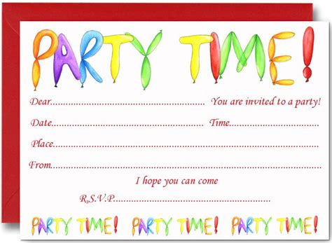 birthday party invites  kids  images party