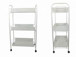 white bathroom storage trolley 3 tier toiletry linen cart With bathroom cart on wheels