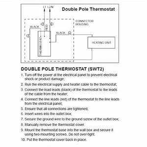Line Voltage Thermostat  Electric Heaters Only  Stelpro Swt2f  Double Pole  4