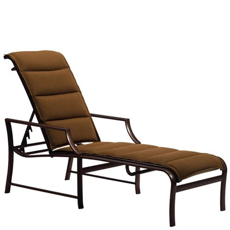 chaises discount tropitone 820832ps padded sling chaise lounge