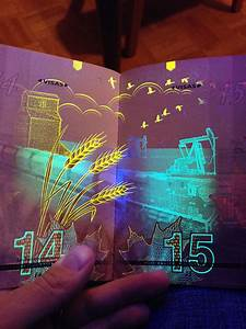 Newest Canadian Passport Features Hidden Images Only Visible Under Uv Light