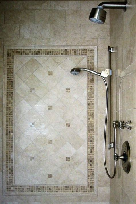 Pretty Bathroom Showers by Pretty Framed Tile Inlay For Shower Beautiful
