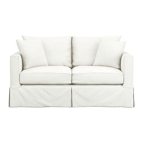 willow sleeper sofa snow crate and barrel - Sleeper Sofa Slipcover Full