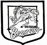 Broncos Coloring Football Rugby League Denver Brisbane Printable Nrl Cowboys Teams Clipart Australian Wales Silhouette Nfl Mascot Getcolorings Club Popular sketch template