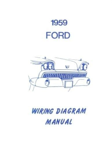 Ford Galaxie Fairlane Custom Wiring Diagram Manual