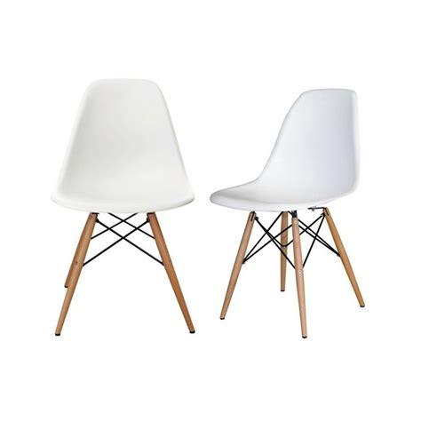 chaises eams replica chaise en plastique eams tower piedment en bois