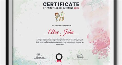 painting certificates psd word designs design