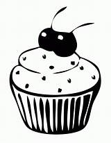 Cupcake Coloring Pages Printable Cute Cake Cup Cupcakes Cartoon Clipart Cakes Cliparts Cartoons Popular Getcoloringpages Library Hard sketch template