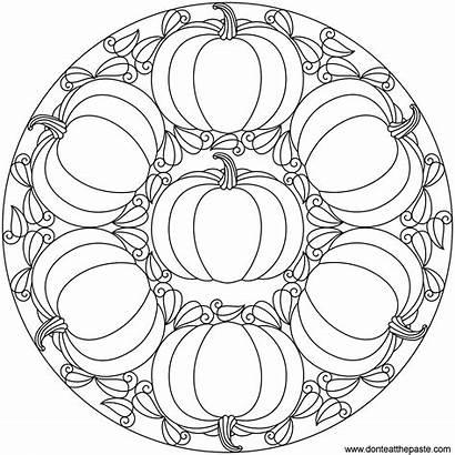 Mandala Pumpkin Autumn Transparent Happy Printable Coloring
