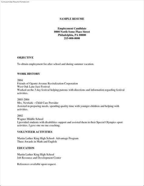 Free Printable Resumes Templates  Free Samples , Examples