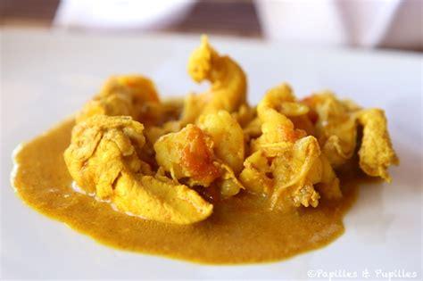 recette de cuisine avec des crevettes curry de poulet aux crevettes
