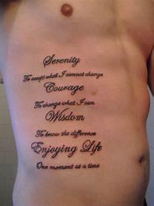 "Mens Quote #Tattoo ""Serenity, Courage, Wisdom, Enjoying ..."