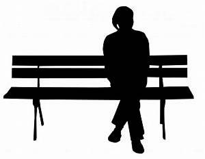 Person on bench silhouette Photo | Free Download