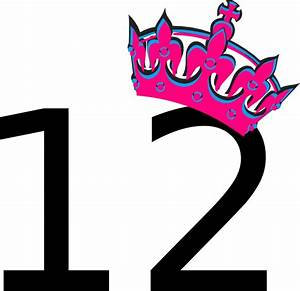 Pink Tilted Tiara And Number 12 Clip Art at Clker.com ...