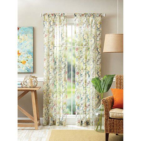 better homes and gardens curtains better homes and gardens tropical floral semi sheer