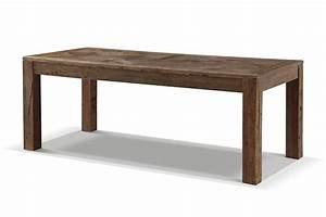 Table de salle a manger rustique en bois brut rose moore for Salle À manger contemporaineavec table de salle a manger bois