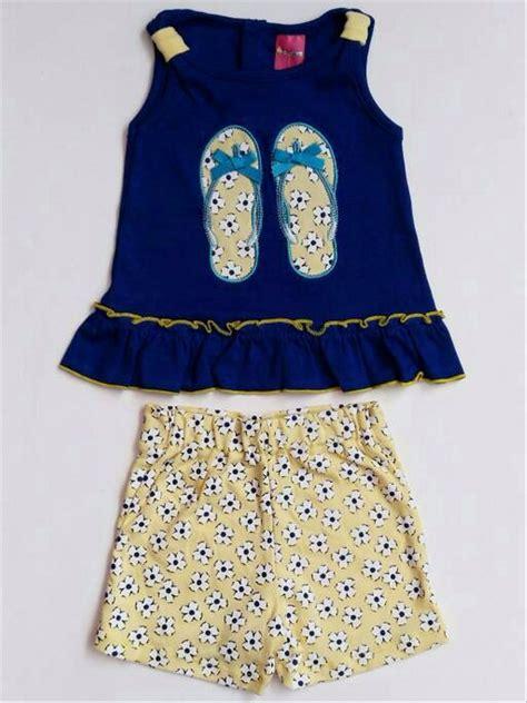 jual baju setelan anak bayi perempuan kaos sandal celana pendek bunga di lapak banana