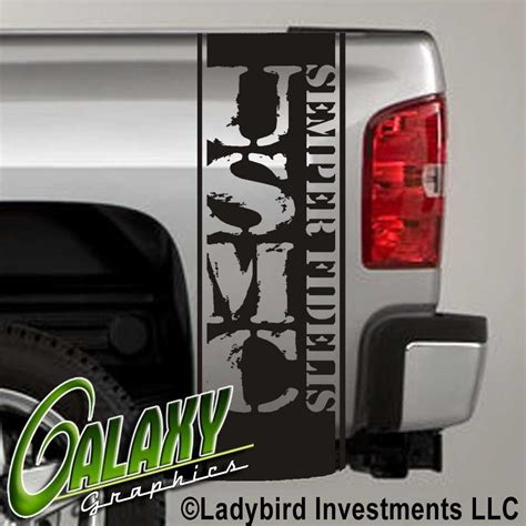 universal usmc decal truck bed side stripes