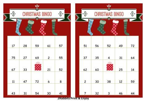 40 Printable Christmas Bingo Cards Prefilled By