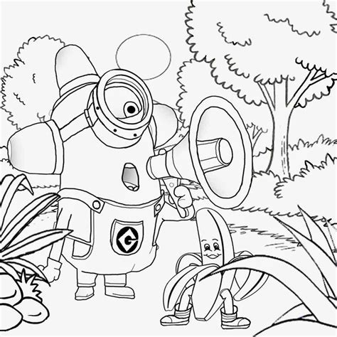 Minions Banana Kleurplaat by Minions Coloring Pages Banana Coloring Home