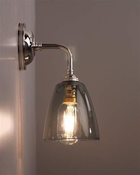 smoked glass wall light pixley retro traditional