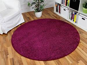 Hochflor Teppich Rund : hochflor velours teppich triumph lila rund in 7 gr en teppiche hochflor langflor teppiche pink ~ Indierocktalk.com Haus und Dekorationen