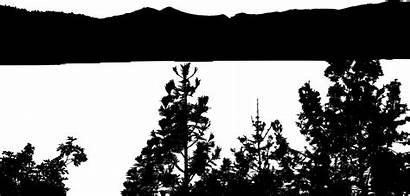 Lake Silhouette Clipart Clip Forest Sunset Ducks