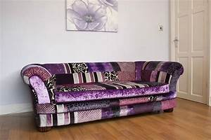 Stunning patchwork sofa bed by james and rose upholstery for James furniture and mattress deals