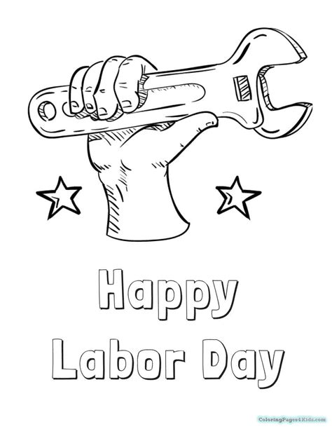 Labor Day Coloring Pages Free Printable Educational