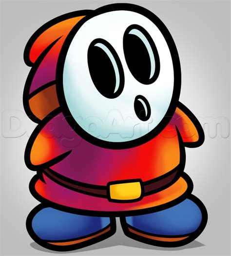 draw shy guy step  step video game characters